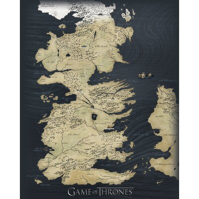 Art Group Game of Thrones Map Canvas Wall Art