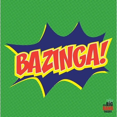 Art Group Big Bang Theory - Bazinga Icon Canvas Wall Art