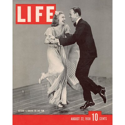 Art Group Time Life - Life Cover - Astaire and Rogers Vintage Advertisement Canvas Wall Art
