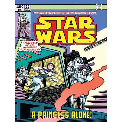 Art Group Star Wars - A Princess Alone Vintage Advertisement Canvas Wall Art