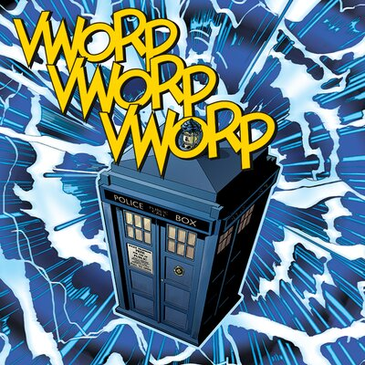 Art Group Doctor Who - Vworp Vintage Advertisement Canvas Wall Art