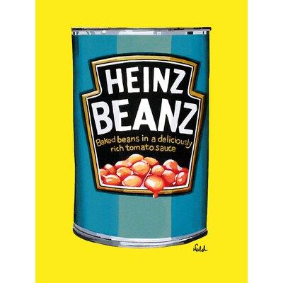 Art Group Heinz Beanz Can Vintage Advertisement Canvas Wall Art