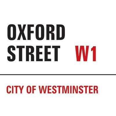 Art Group London - Oxford Street Typography Canvas Wall Art