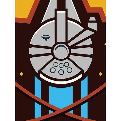 Art Group Star Wars Episode VII - Millennium Falcon Icon Canvas Wall Art