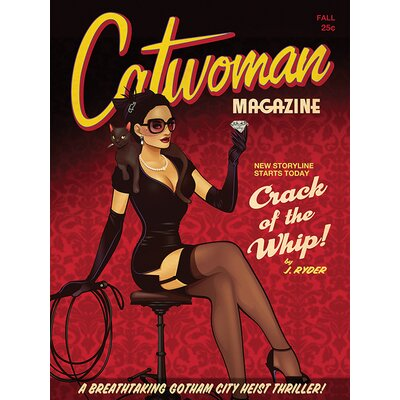 Art Group DC Comics - Cat Woman Crack of the Whip Vintage Advertisement Canvas Wall Art