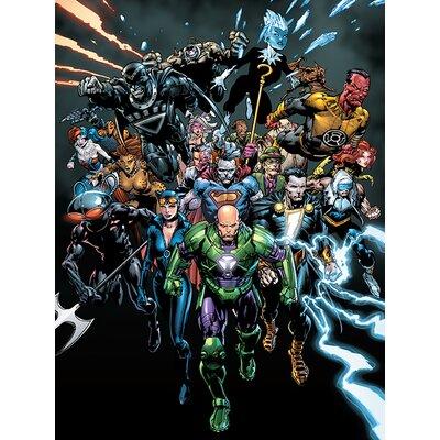 Art Group DC Justice League - Forever Evil Vintage Advertisement Canvas Wall Art