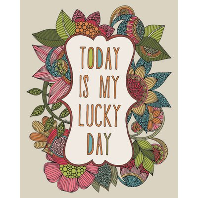 Art Group Valentina Ramos - Today Is My Lucky Day Canvas Wall Art