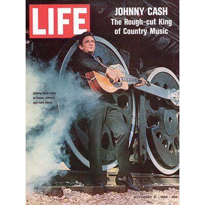 Art Group Time Life - Johnny Cash - Cover 1969 Vintage Advertisement Canvas Wall Art