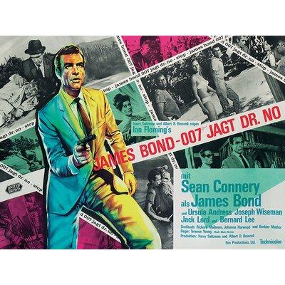 Art Group James Bond - Dr. No - Montage Vintage Advertisement Canvas Wall Art