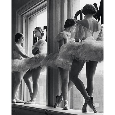 Art Group Time Life - Ballerinas in Window Canvas Wall Art