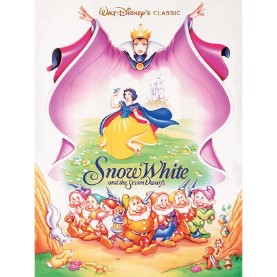 Art Group Snow White and the Seven Dwarfs - Evil Queen Vintage Advertisement Canvas Wall Art