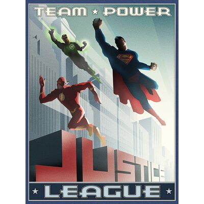 Art Group Justice League - Team Power Canvas Wall Art