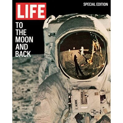 Art Group Time Life - Life Cover - to the Moon and Back Vintage Advertisement Canvas Wall Art