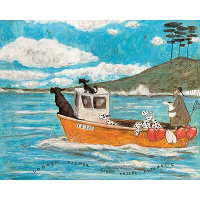 Art Group Sam Toft - Dogger… Fisher… Light Vessel Automatic Canvas Wall Art