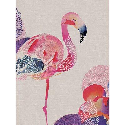 Art Group Summer Thornton - Tropical Flamingo Canvas Wall Art
