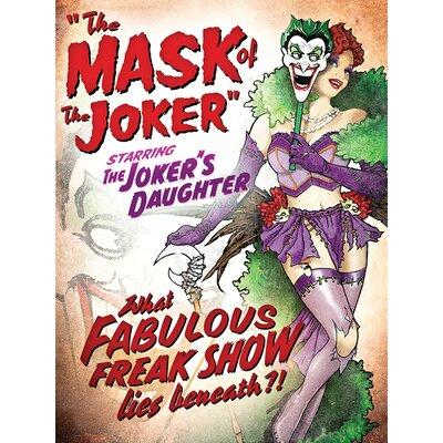 Art Group DC Comics - Wonder Woman and Joker Fabulous Freak S Vintage Advertisement Canvas Wall Art