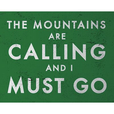 Art Group Go Jump in The Lake - The Mountains Are Calling Typography Canvas Wall Art