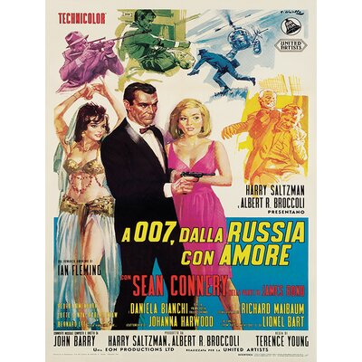 Art Group James Bond - Dalla Russia Con Amore Vintage Advertisement Canvas Wall Art