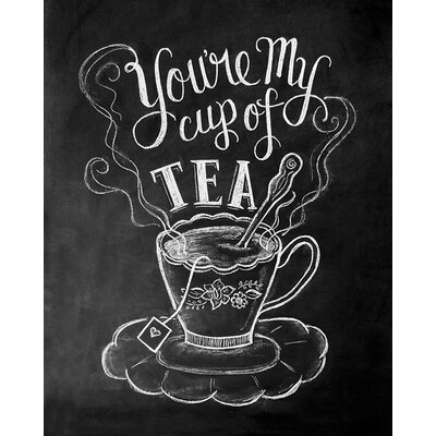Art Group LiLy and Val - Tea Typography Canvas Wall Art