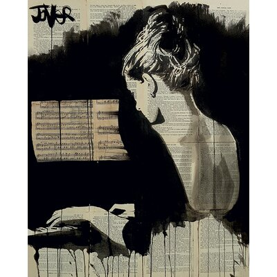 Art Group Loui Jover - Her Sonata Canvas Wall Art