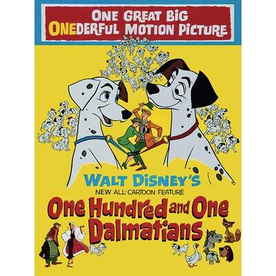 Art Group 101 Dalmatians - Onderful Motion Picture Vintage Advertisement Canvas Wall Art