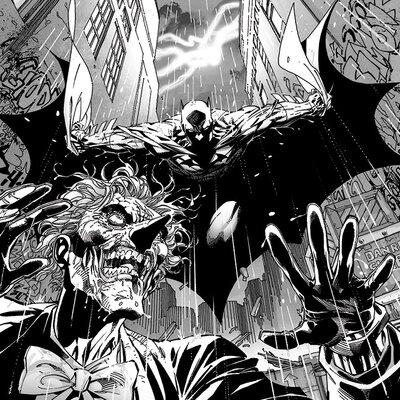 Art Group DC Comics - Batman Vs the Joker Vintage Advertisement Canvas Wall Art