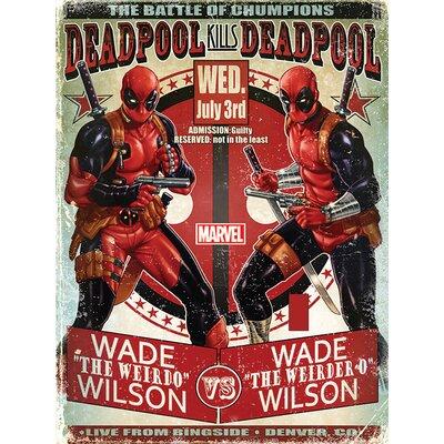 Art Group Deadpool - Wade Vs Wade Vintage Advertisement Canvas Wall Art
