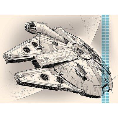Art Group Star Wars Episode VII - Millennium Falcon Pencil Canvas Wall Art