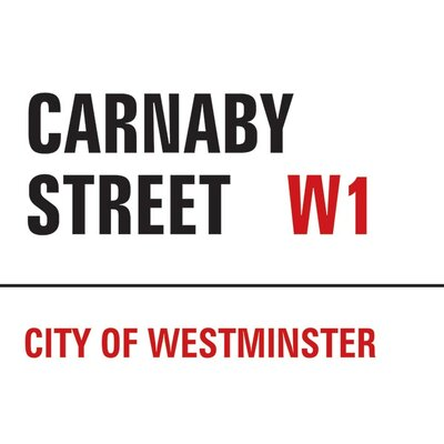 Art Group London - Carnaby Street Typography Canvas Wall Art