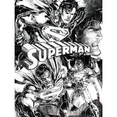 Art Group Superman - Sketch Vintage Advertisement Canvas Wall Art