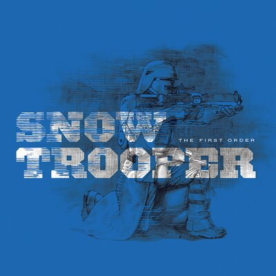 Art Group Star Wars Episode VII - Snowtrooper Vintage Advertisement Canvas Wall Art in Blue