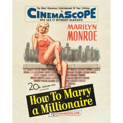 Art Group Marilyn Monroe - Millionaire Vintage Advertisement Canvas Wall Art