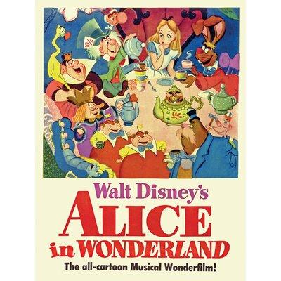 Art Group Alice in Wonderland - Tea Party Vintage Advertisement Canvas Wall Art