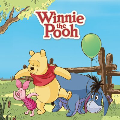 Art Group Winnie the Pooh Balloon Canvas Wall Art