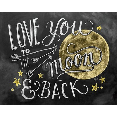 Art Group LiLy and Val - Moon Typography Canvas Wall Art