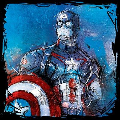 Art Group Avengers Age of Ultron - Captain America Canvas Wall Art