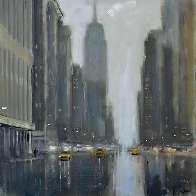 Art Group Jon Barker - Early Commute 5th Avenue Canvas Wall Art