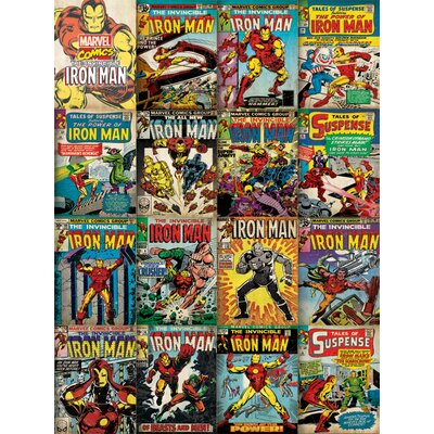 Art Group Marvel - Iron Man Covers Vintage Advertisement Canvas Wall Art