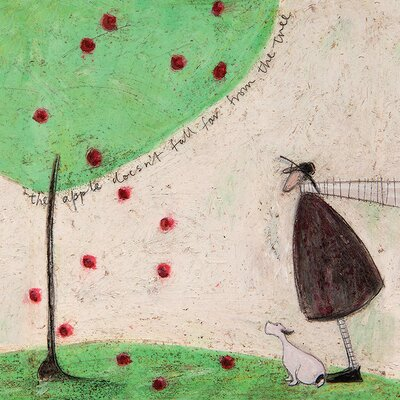 Art Group Sam Toft - The Apple Doesn't Fall Far from the Tree Canvas Wall Art