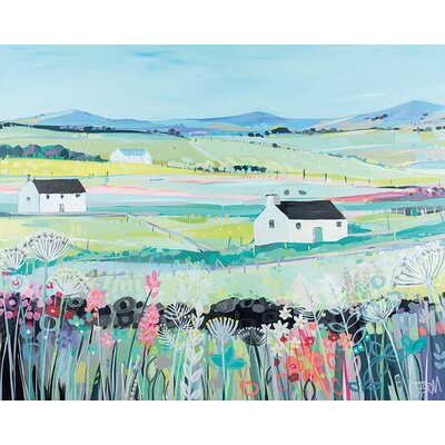 Art Group Janet Bell - Across The Fields Painting Print  on Canvas
