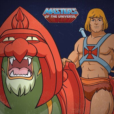 Art Group Masters of the Universe He - Man Vintage Advertisement Canvas Wall Art