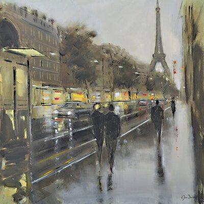 Art Group Jon Barker - Paris Reflections Canvas Wall Art