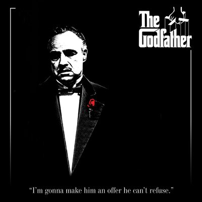 Art Group The Godfather - Red Rose Vintage Advertisement Canvas Wall Art