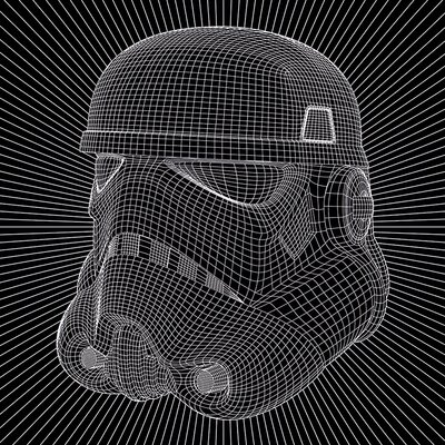 Art Group Star Wars - Stormtrooper Wire Canvas Wall Art
