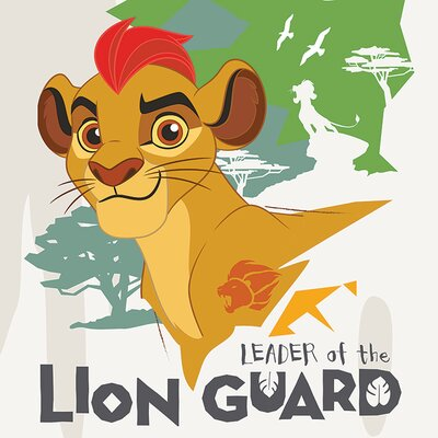 Art Group The Lion Guard - Leader Vintage Advertisement Canvas Wall Art