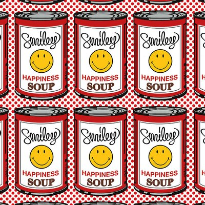 Art Group Happiness Soup - Multiple Vintage Advertisement Canvas Wall Art