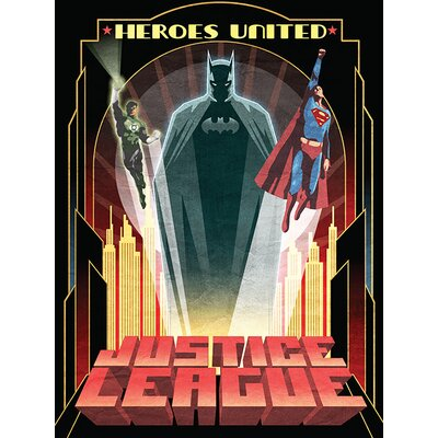 Art Group DC Comics - Heroes United Vintage Advertisement Canvas Wall Art