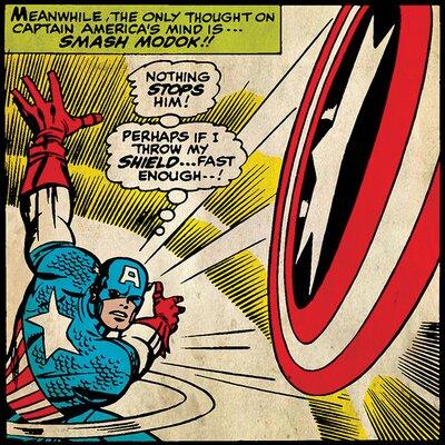 Art Group Captain America - Shield Vintage Advertisement Canvas Wall Art