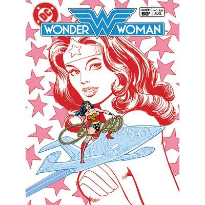 Art Group Wonder Woman - Stars Canvas Wall Art