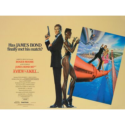 Art Group James Bond - A View To a Kill - LandscapeVintage Advertisement Canvas Wall Art